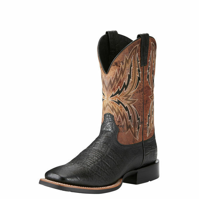 Ariat 10021678 Arena Rebound Black & Tan Elephant Print Square Toe Cowboy Boots