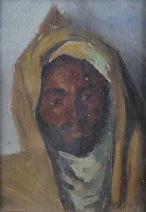 Maurice-Bouviolle-1893-1971-Ritratto-Uomo-Orientalista-Marocco-Algeria-M-039-Zab