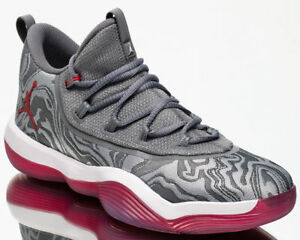 d93a3868494a94 JORDAN SUPER.FLY 2017 LOW MEN S BASKETBALL SHOES WOLF GREY GYM RED ...