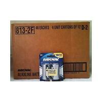 Rayovac Alkaline D Batteries 2-pack Retail Packs - Case Of 48 wholesale on sale