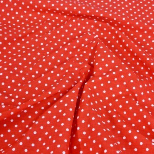 Polycotton Fabric 2mm Polka Dots Spots Dress Craft Material