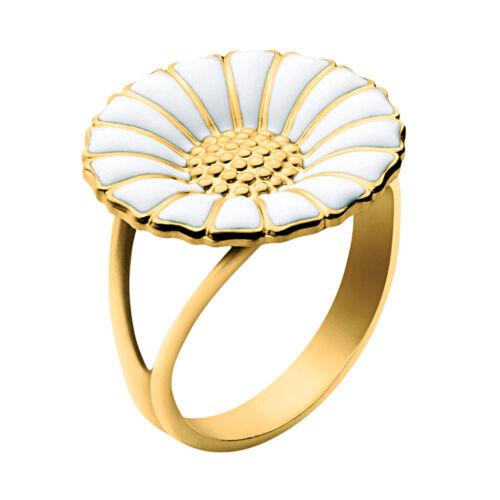 18 mm Georg Jensen Gilded Silver Daisy Ring