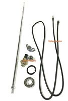 68-70 Dodge Charger Antenna Assembly Cable Wire & Telescopic Mast & Hardware