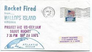 1971 Wallops Island Rocket Fired Project Bic Scout Germany Wff Goddard Base Nasa Bonne Conservation De La Chaleur