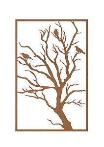 Bird-Metal-Garden-Wall-Art-Panel-Three-Australian-Made
