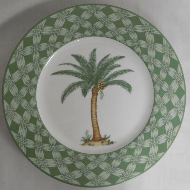 Villeroy Boch Oasis Palm Tree Lunch Or Dinner Plate 9 5 Diameter Unused