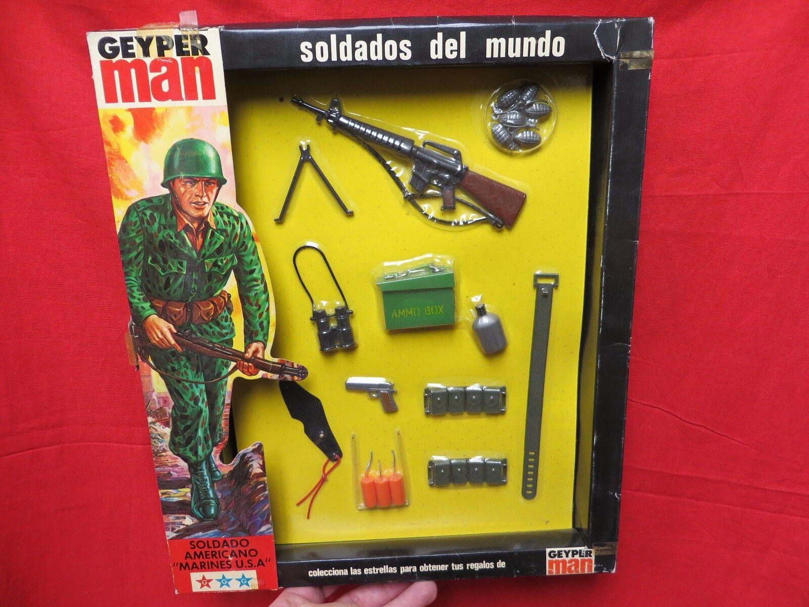 1964 VINTAGE GI JOE GEYPERMAN  JOEZETA   1975  SOLDADOS DEL MUNDO    BOXED