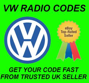 Radio coche Volkswagen código de desbloqueo RNS 300 315 RCD 200 210 215 300 310 500 510