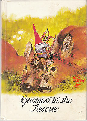 Gnomes to the Rescue 1982 Rien Poortvliet and Wil Huygen Vintage Hardcover