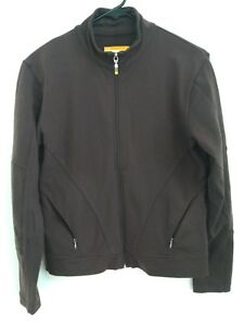 Lucy-Womens-Size-Medium-Brown-Full-Zip-Soft-Stretch-Active-Track-Jacket