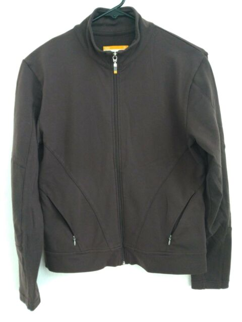 Women's Size Medium Lucy Brown Full Zip Soft Stretch Active/Track Jacket