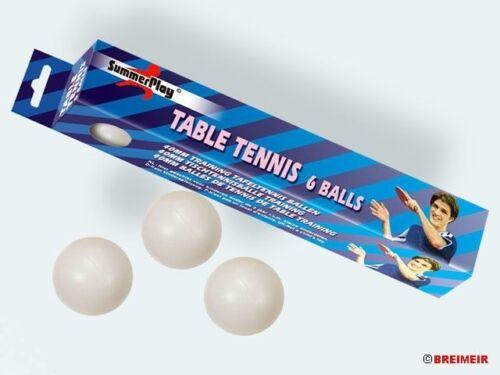 SummerPlay  6 Stück TT Ovp Tischtennisbälle 40 mm weiß  für Training   Neu