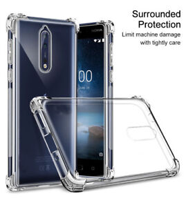 the best attitude d45e5 9af72 Details about For Nokia 7.1 8.1 PLUS 9 PureView Slim Shockproof Clear Soft  Case Rubber Cover