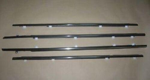 2007-2019 Toyota Tundra Crew Max Door Belt Moulding 4pc Kit Set Weatherstrip