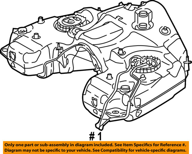 Mercedes Benz 1644702101 Genuine Oem Fuel Tank