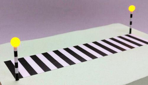 N Scale Zebra Crossing Set Gaugemaster GM395