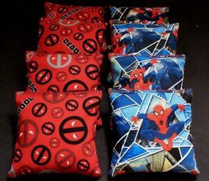 MARVEL SPIDERMAN SUPERHERO 8 ACA Regulation Corn Hole Bags