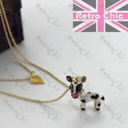 Betsey Johnson Animal Vaca joyas BNWT Esmalte Pulsera//pendientes//Collar//anillo