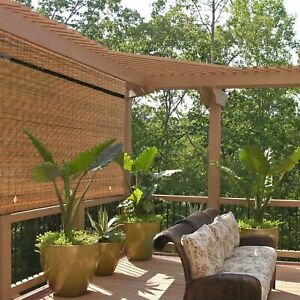 Outdoor Roll Up Shade Bamboo Window Blinds Exterior