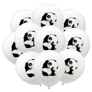 10x12-Zoll-Panda-Ballons-Weiss-Ballons-Dekoration-Geburtstagsfeier-Geschenke-DD
