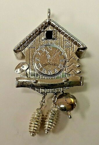 Clock with Swinging Pendulum Sterling Silver Charm