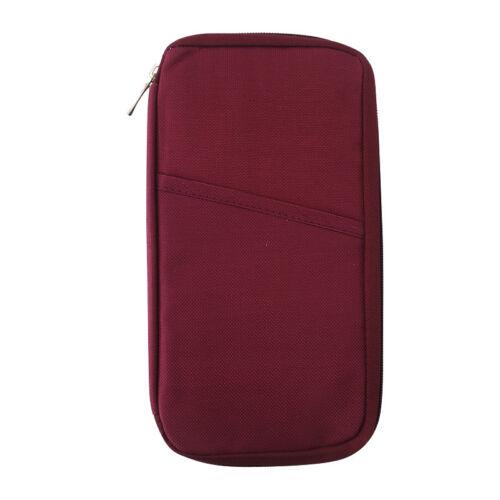 Travel Passport Holder Credit ID Card Case Organizer Wallet Purse Business Bag