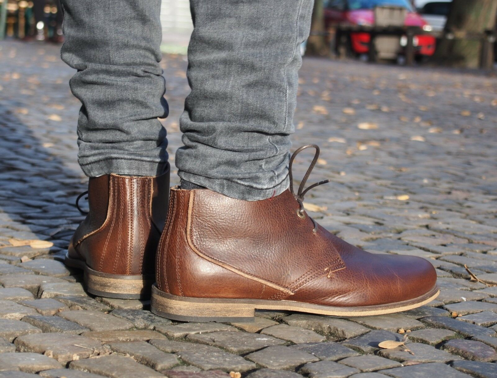 HUB dk Footwear Herrenschuhe SPURS L dk HUB brown braun Stiefelette Echtleder NEU SALE ae0a57