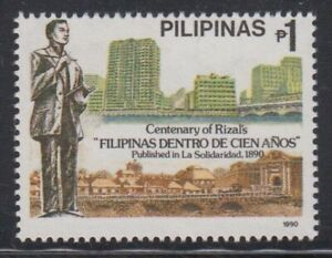 Philippine-Stamps-1990-Rizal-039-s-039-The-Philippines-a-Century-Hence-039-Centenary-Compl