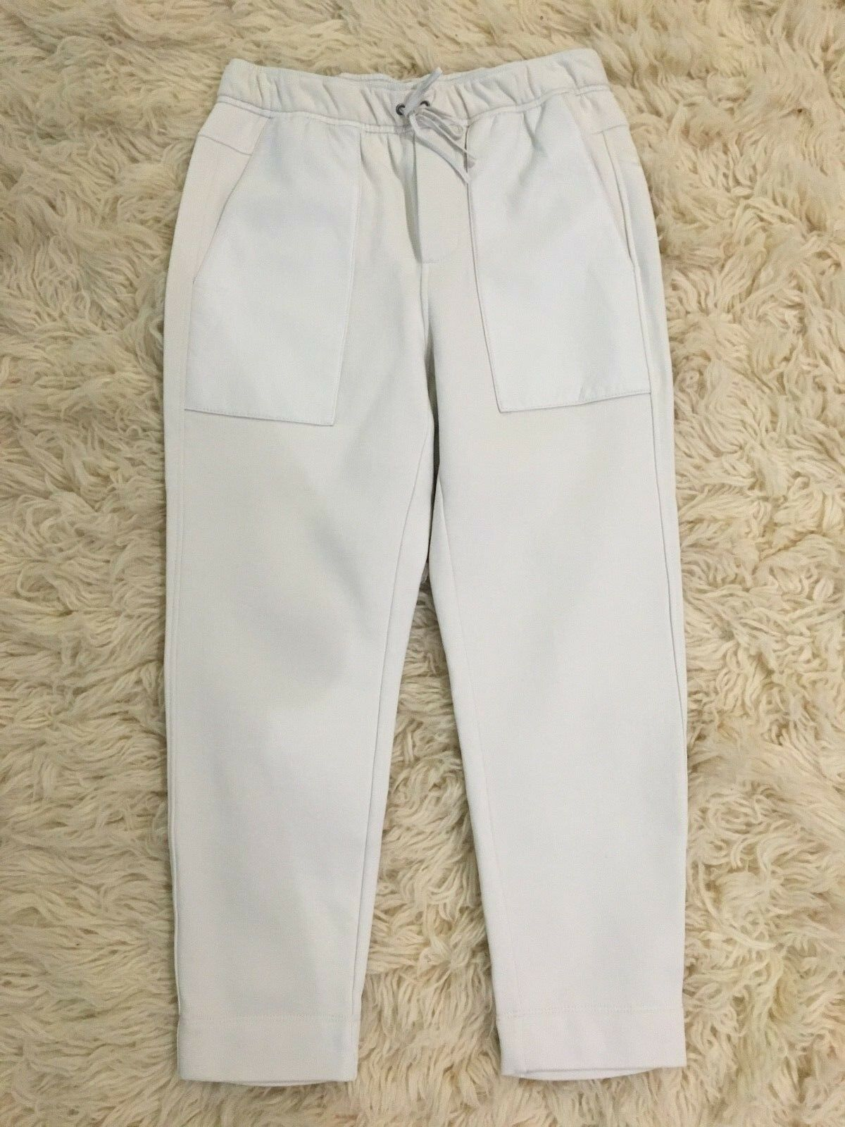 WOW    NWT OG  335 - Helmut Lang Weiß Cotton+Leather Jogger Pants Lined - SZ M