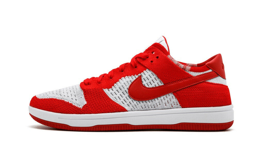 Nike Dunk Low Flyknit Men's (Size 11) Red White Grey 917746-600