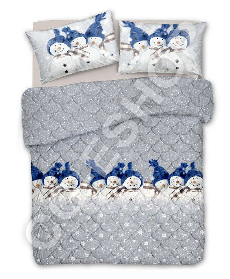 1 winter duvet single person bed 2 seater double snowhomme bleu