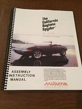 MIAMI VICE FERRARI DAYTONA SPYDER ASSEMBLY MANUAL COPY