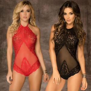 Women-Sexy-Lingerie-Nightwear-Lace-Dress-G-string-Underwear-Babydoll-Slee-Prof