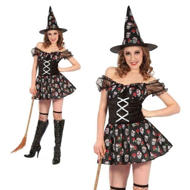 Strega COSTUME streghe Costume Nero L 42//44 streghe Travestimento Halloween Da Donna