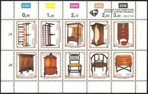 South-Africa-1992-Furniture-Antiques-Design-Craft-Chairs-Desk-10v-sht-n17107