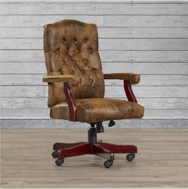 Desk Chairs With Wheels And Arms Rustic