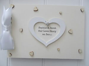Personalised Handcrafted A4 Love Story Memory Scrapbook Photo Album QUICK POST