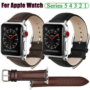 For Apple Iwatch Series 5 4 3 2 1 Genuine Leather Watch Band Strap 38 42 40 44mm Ebay