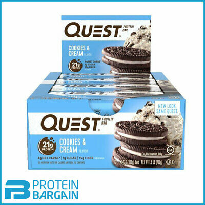 Quest Nutrition Bars 12 x 60g High Protein - High Fiber Bars Low Fat & Low Sugar