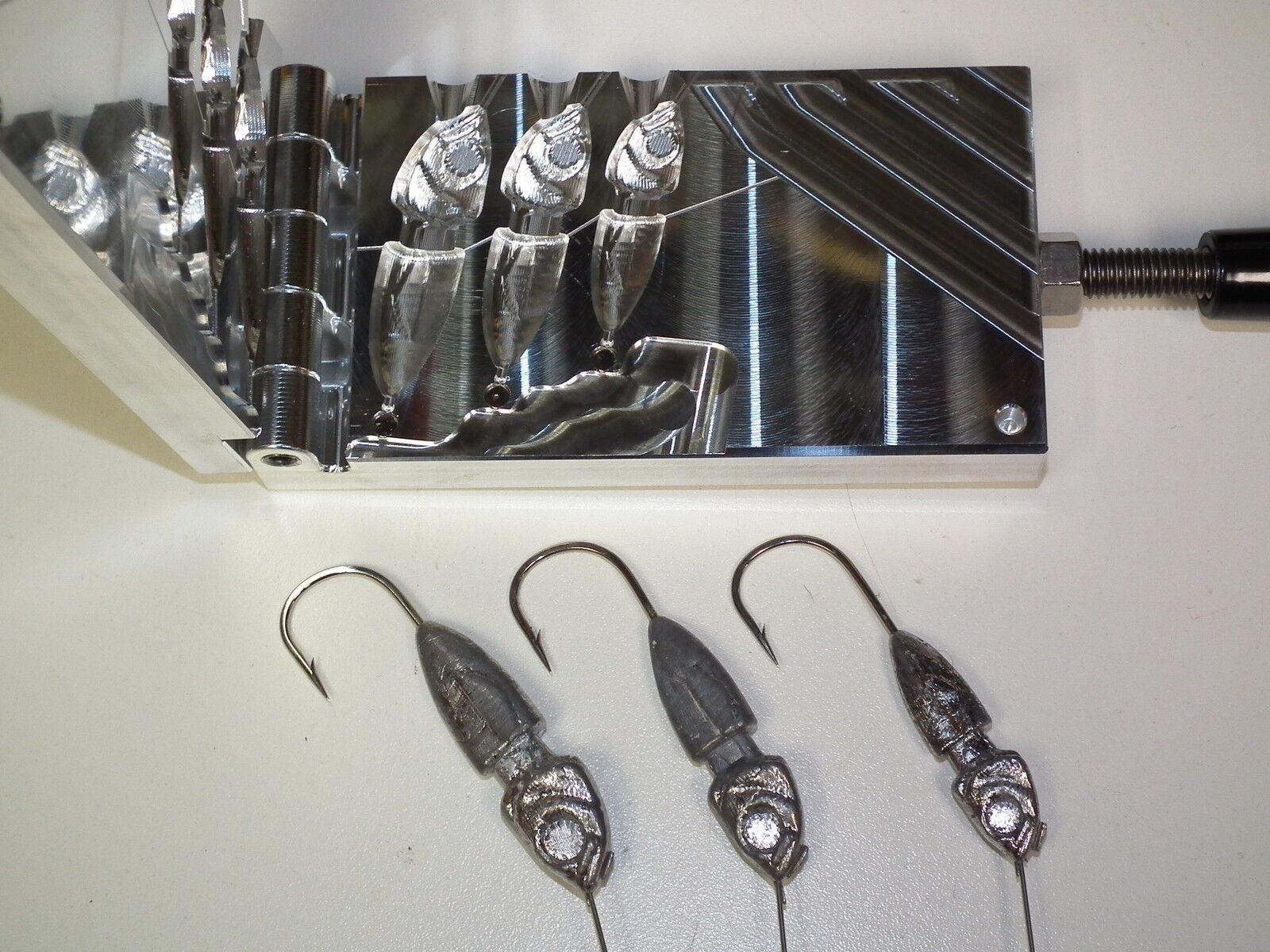 Molde de agua dulce Spinnerbait oculto peso -4 1, 1.5, 2oz CNC Aluminio