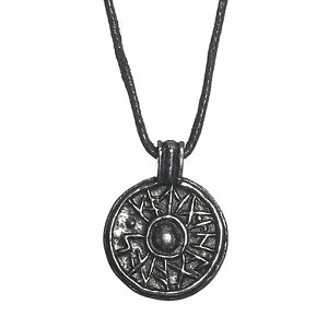 Pewter viking jorvik good luck shield amulet pendant cord necklace image is loading pewter viking jorvik good luck shield amulet pendant aloadofball Image collections