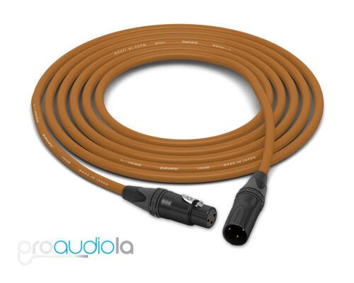Canare Quad Cable L-4E6SNeutrik Gold XLR-F XLR-MBrown 10 Feet10 Ft 10/'
