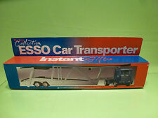 METAL SCANIA 143M 450 TRUCK + CAR TRANSPORTER  - ESSO - BLUE 1:50 - NMIB