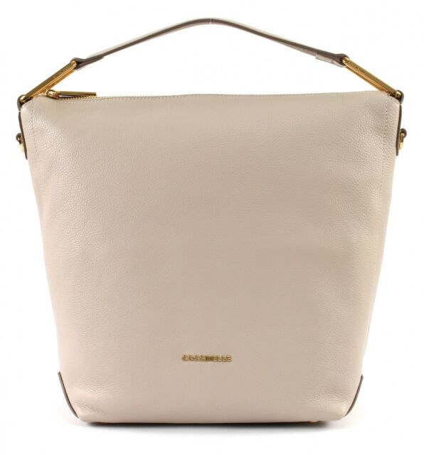 79000d96a0 Coccinelle Liya Small Hobo Bag Seashell   Taupe for sale online