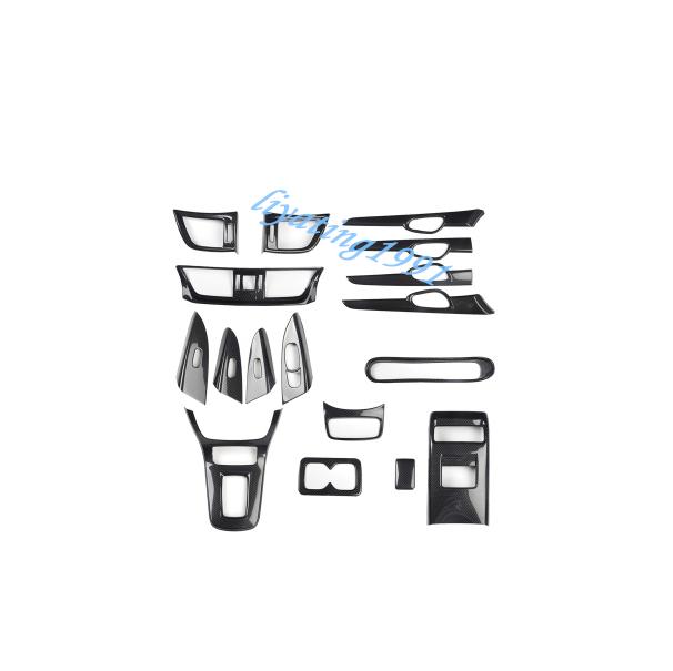 Carbon Fiber Car Interior Kit Cover Trim For Nissan Sentra