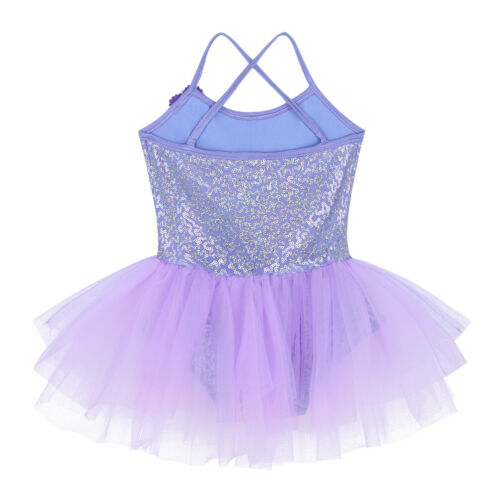 Ballerina Girls Dance Dress Kids Ballet Gymnastics Leotard Tutu Skirt Costumes