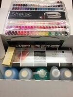 Cnd Shellac Pro Kit Nail Scrubfresh, Wrap, Coolblue, Cuticle, Solaroil..9pcs Kit