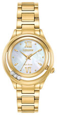 Citizen Eco-Drive Women's Sunrise Diamond Accents Gold Tone Watch EM0512-58D