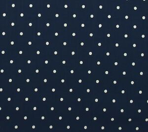 Navy-Blue-Ivory-Dot-Cotton-Quilt-Fabric-Hobby-Lobby-By-The-Yard