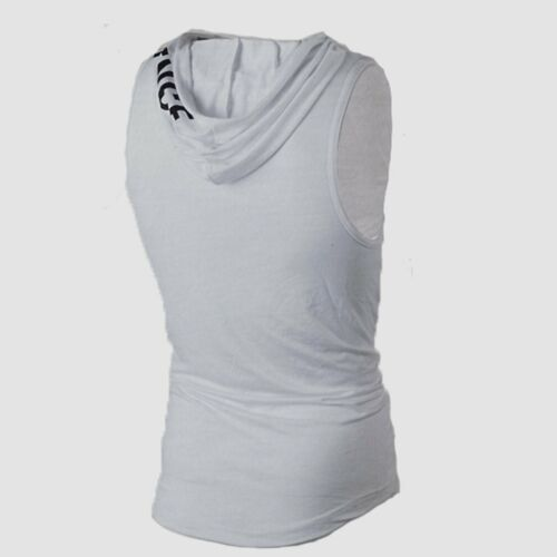 GS Men Casual Sleeveless Hoodie Sport Pullover Sweater Casual Loose Tops T-Shirt